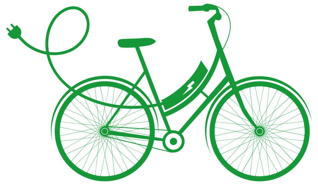 vélo électrique vert